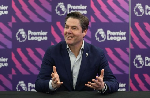 LONDON, ENGLAND - FEBRUARY 04: Richard Masters, Chief Executive of Premier League, addresses journalists during a media briefing on February 04, 2020 in London, England. (Photo by Alex Morton/Getty Images for Premier League)