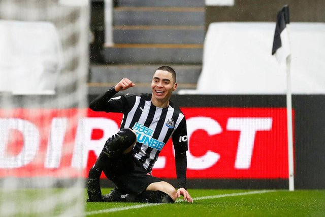 Newcastle United star Miguel Almiron. (Photo by Jason Cairnduff - Pool/Getty Images)