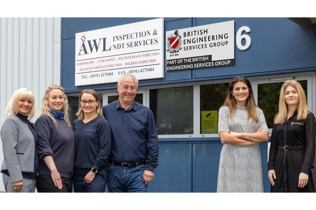 (From left) Heather, Emma, Amy and Tony Williamson with Abby Dorani and Sarah Hall of Hay & Kilner Law Firm, who advised on the deal.