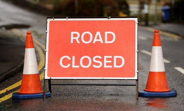Road closure warning