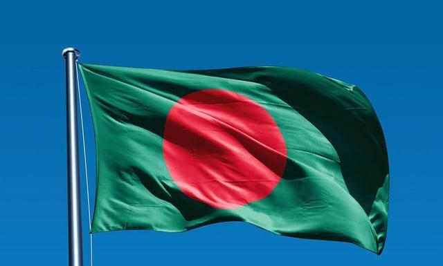 The Bangladesh flag.