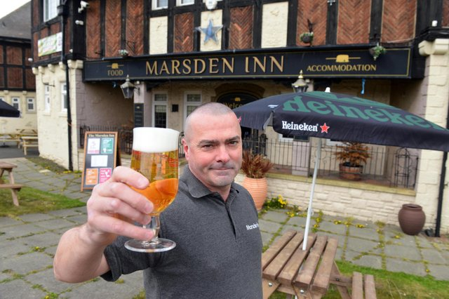 Marsden Inn landord Michael Ward is ready for the reopening, with new outdoor seating space.