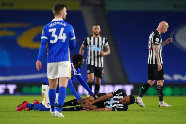 Newcastle midfielder Isaac Hayden has been ruled out for the remainder of the season.