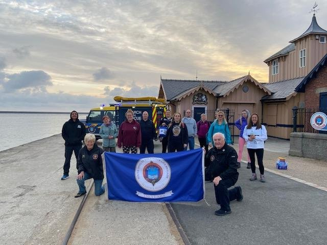 The co-founder of the Hebburn Helps food bank has helped raise almost £2,000 by completing a 'Crusade for the Brigade' marathon-length walking route along the coast