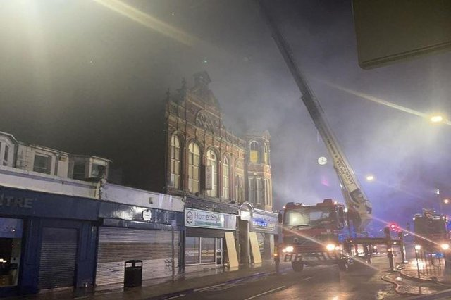 Firefighters at the scene of the Victoria Hall blaze in South Shields. Photo by Liam Christopher Walker.
