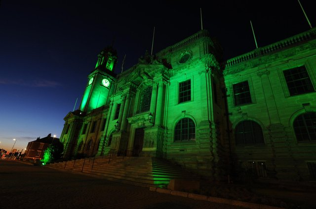 South Shields Town Hall will be lit up green to mark Srebrenica Memorial Day on Sunday, July 11.