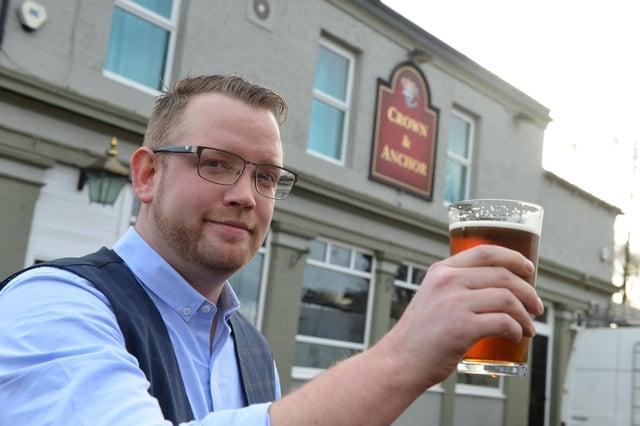 Landlord at Jarrow's Crown and Anchor pub, Gareth Carr