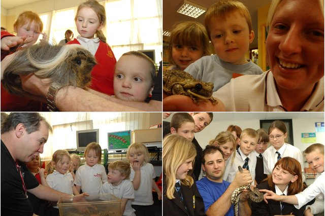 Some special visitors came to these South Tyneside schools. Take a look through our archive selection to find out more.