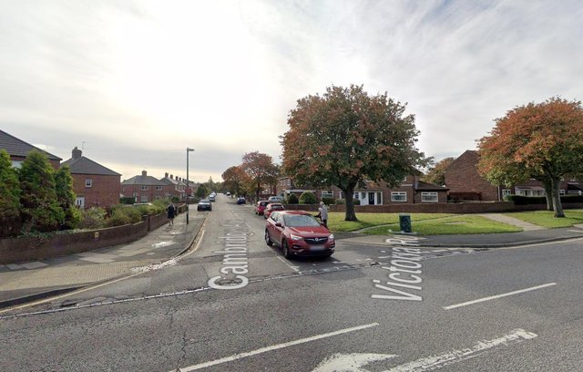 The incident happened at the junction of Victoria Road and Cambridge Avenue in Hebburn