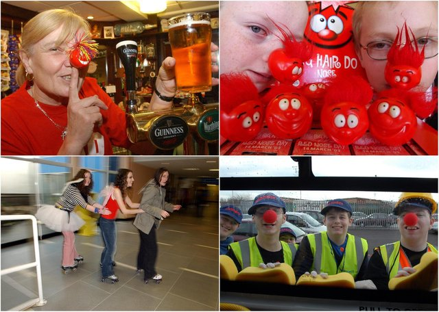 See who you can spot in these Red Nose Day scenes.