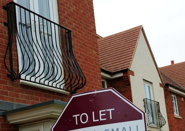 Private rent levels row