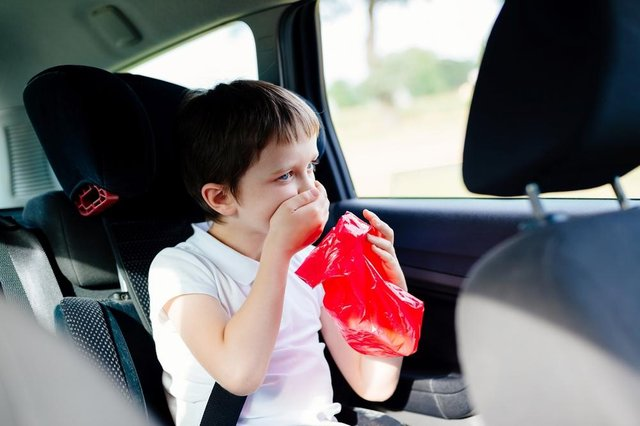 Children are particularly susceptible to car sickness