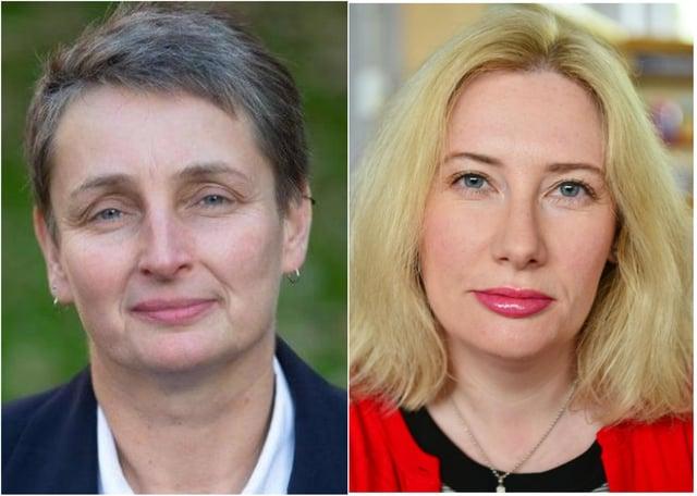 Jarrow MP, Kate Osborne (left); Emma Lewell-Buck, MP for South Shields (right)