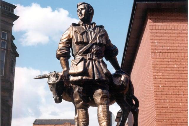 The John Simpson Kirkpatrick statue in Ocean Road