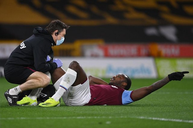 West Ham United's Michail Antonio faces a lengthy spell on the sidelines with a hamstring injury.