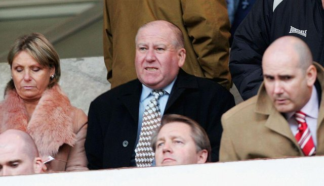 Bob Murray, chairman of Sunderland, watches from the stands during the Barclays Premiership match between Sunderland and Blackburn Rovers at the Stadium of Light on March 25, 2006 in Sunderland, England.