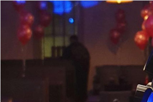 A photo taken of the venue's function room appears to show a ghostly figure, despite the building being empty at the time.