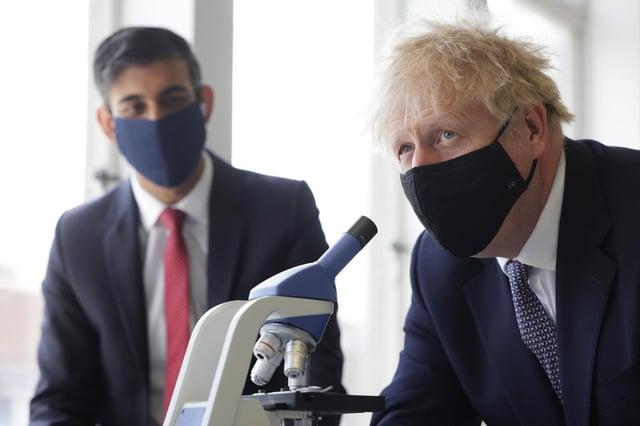 Prime Minister Boris Johnson (right) and Chancellor of the Exchequer Rishi Sunak