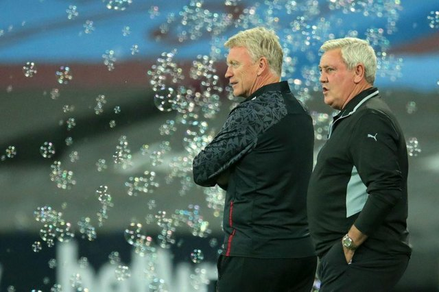 David Moyes has praised the job Steve Bruce has done at Newcastle United.  (Photo by ADAM DAVY/POOL/AFP via Getty Images)