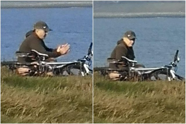 Northumbria Police has released these photos of a man they would like to speak to as part of inquiries into the incidents of indecent exposure.