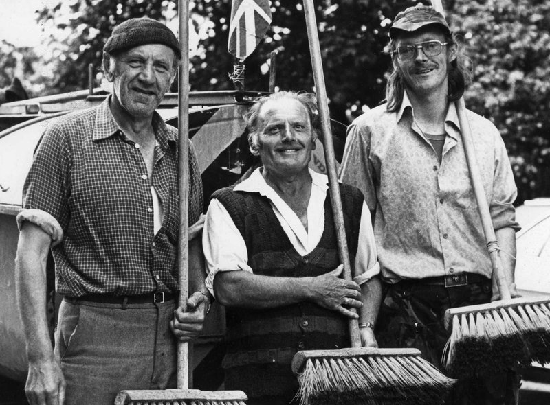 Cleansing Department workers Sid Duncan, Joe Quantrill and Larry Taylor posed for this shot in July 1980. Were you a part of the Keep Britain Tidy initiative back then?