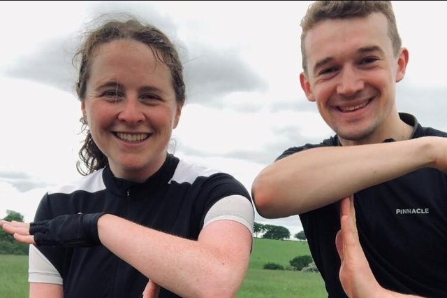 Alex and Sarah are in the saddle to help others