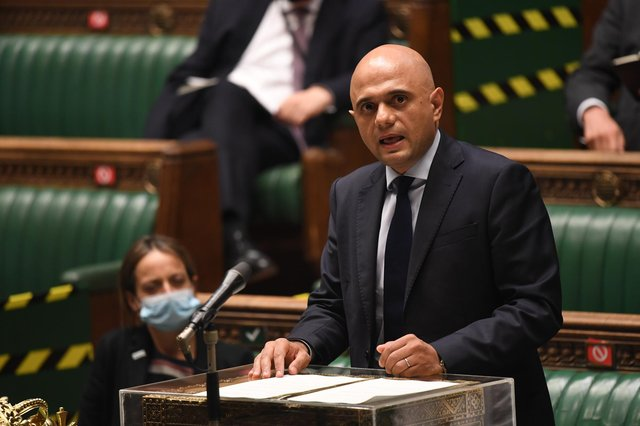 Health Secretary Sajid Javid updating MPs on the governments coronavirus plans, in the House of Commons, London.