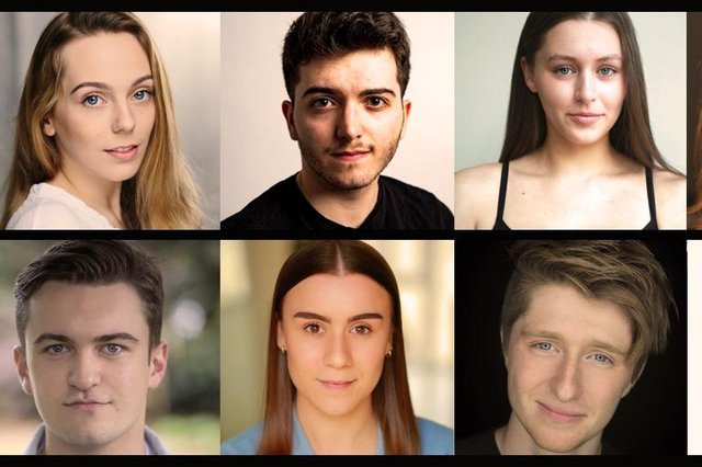The eight talented actors who will feature in the Customs House's upcoming young writers' takeover production.