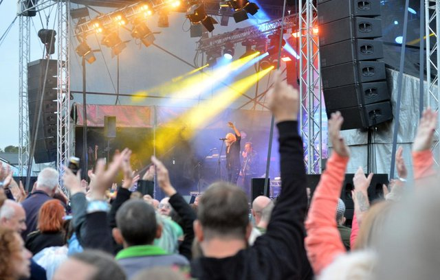 The crowd at Herrington County Park enjoying the Boomtown Rats when Kubix Festival was held in 2018.