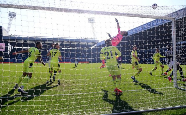 Martin Dubravka of Newcastle United tips a shot over the bar during the Premier League match between West Bromwich Albion and Newcastle United at The Hawthorns on March 07, 2021 in West Bromwich, England.