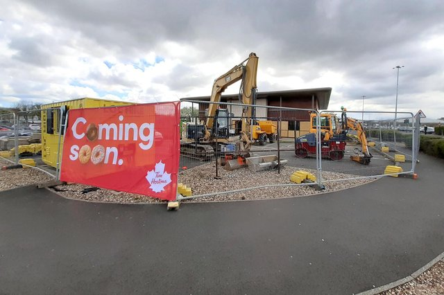 Work is being carried out at the Tim Hortons cafe  site at the Galleries in Washington, which used to be a Frankie and Benny's restaurant.