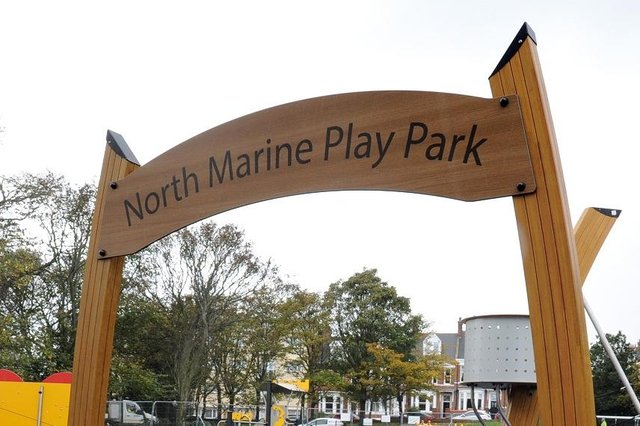 The new play area at North Marine Park, South Shields
