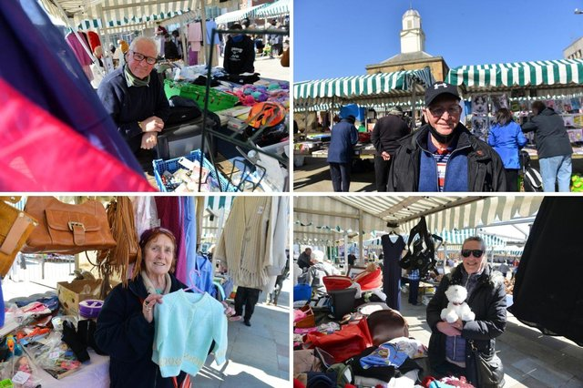 It was a sunny day for the first market since lockdown.