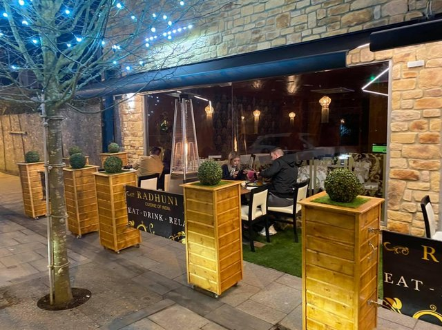 Radhuni in Ocean Road has opened up a stunning outdoor seating area following the easing of lockdown restrictions.