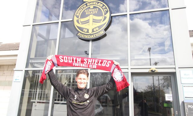 Dillon Morse has signed a new contract which will keep him at the club until 2024. Pic credit South Shields.