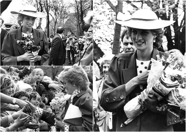 Memories of Diana's visit to South Tyneside.