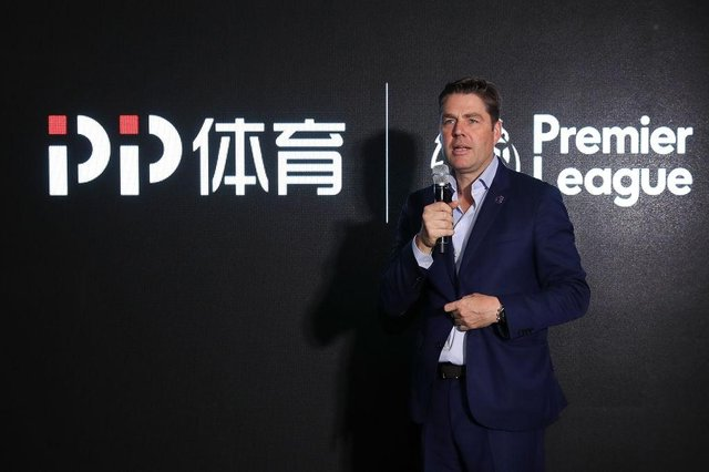Richard Masters of Premier League speech during the cocktail reception to celebrate the Premier League Asia Trophy, the youth tournament and showcase the wider football development work in China. during the Premier League Asia Trophy on July 19, 2019 in Shanghai, China.