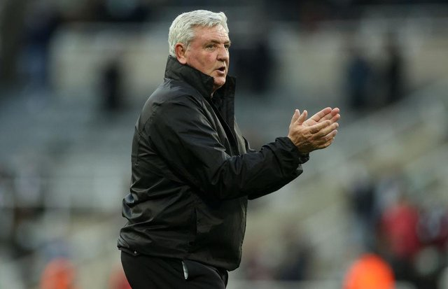 Newcastle United head coach Steve Bruce could explore the free agent market this summer. (Photo by CARL RECINE/POOL/AFP via Getty Images)