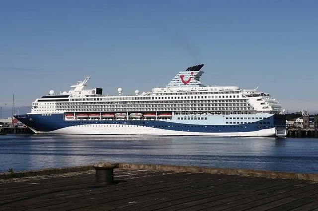 The TUI Marella Explorer 2 at Port of Tyne.
