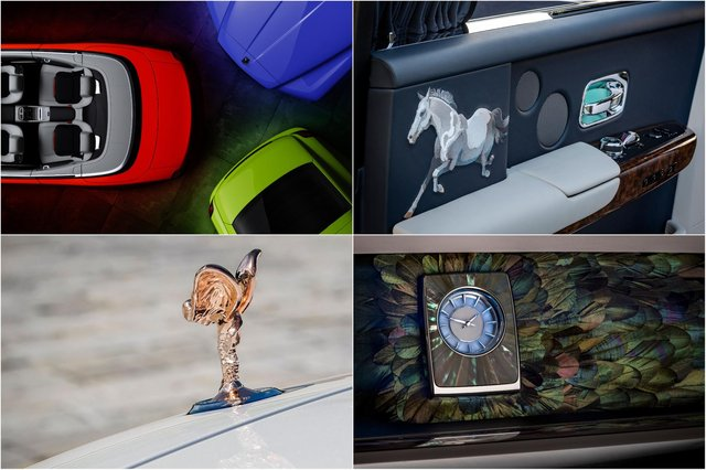 Examples of the Rolls-Royce Bespoke Collective's work in 2020