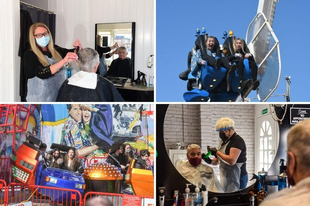 Happy times in South Tyneside, whether it's a haircut or a hair-raising time at the fair