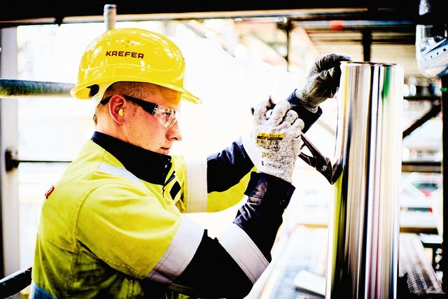 A KAEFER worker. The company has just won a contract to supply the Hinkley Point C nuclear power station project.