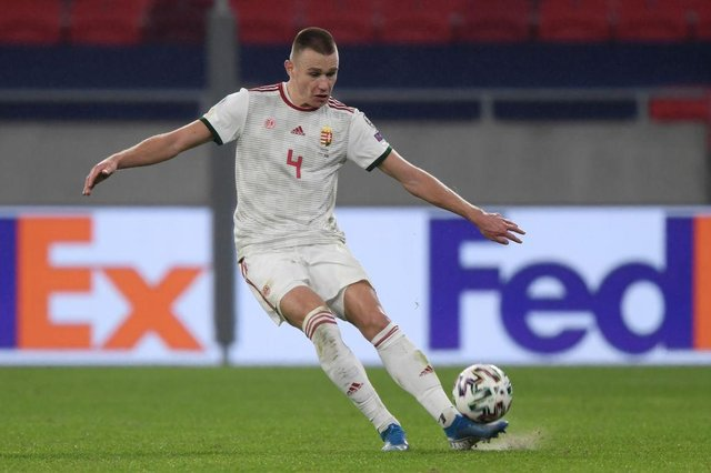 Fenerbahce and Hungary defender Attila Szalai has been linked with a move to Newcastle United. (Photo by ATTILA KISBENEDEK / AFP)