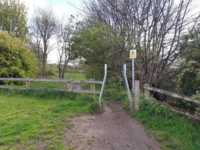 The public foot path near Fellside that runs through South Shields Golf Club.
