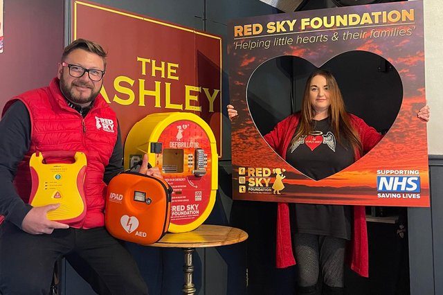 Sergio Petrucci, founder of the Red Sky Foundation (left), at the Ashley pub in South Shields.