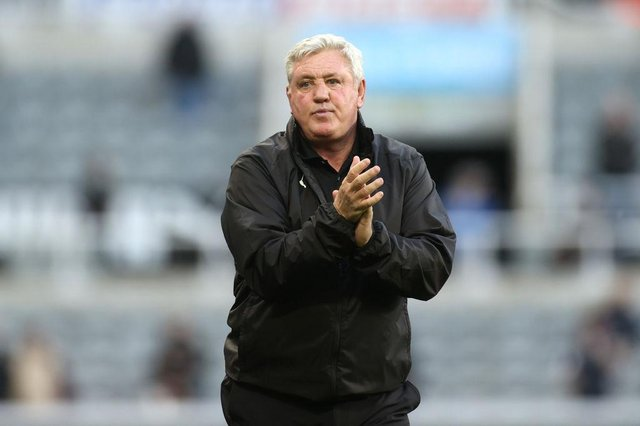 Steve Bruce, Manager of Newcastle United applauds fans after the Premier League match between Newcastle United and Sheffield United at St. James Park on May 19, 2021 in Newcastle upon Tyne, England.