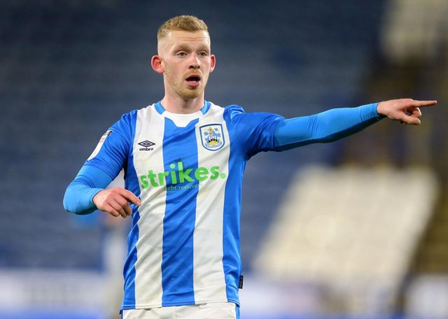 Huddersfield Town midfielder Lewis O'Brien has been linked with a move to Newcastle United this summer. (Photo by Alex Livesey/Getty Images)