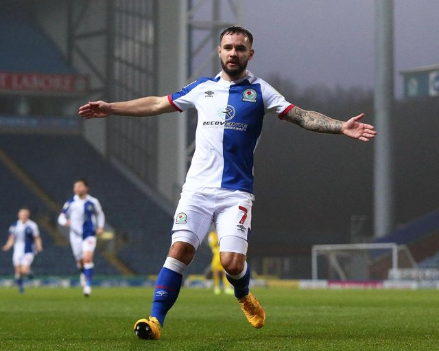 Blackburn Rovers striker Adam Armstrong was sold by Newcastle United in 2018. (Photo by Lewis Storey/Getty Images)