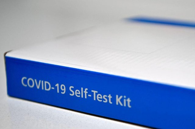 An NHS Covid-19 Self-Test Kit, containing a lateral flow test. (Photo by BEN STANSALL/AFP via Getty Images)