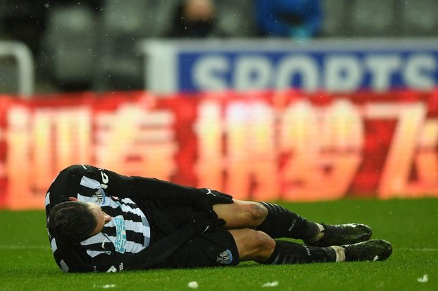 Newcastle United defender Fabian Schar is edging closer to a return from injury. (Photo by GARETH COPLEY/POOL/AFP via Getty Images)